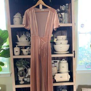 TOBI Velvet Wrap Dress